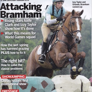 Izzy Taylor Bramham Horse and Hound cover
