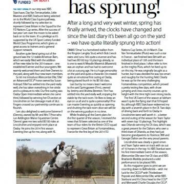 British Equestrian Diary May-June 2014