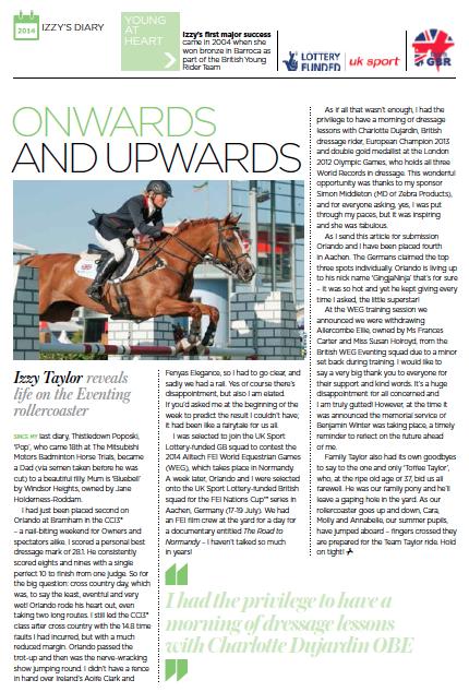 British Equestrian Diary September:October 2014