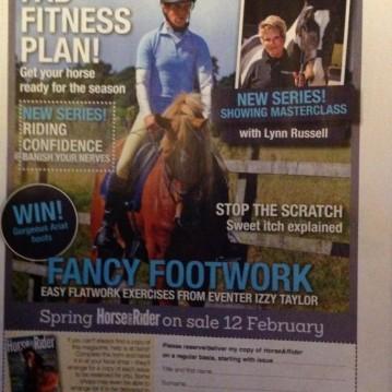 Horse&Rider FancyFootwork advert Spring 2015