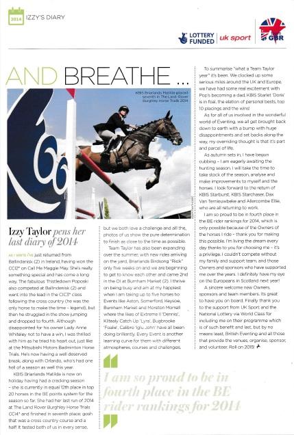 British Equestrian November:December 2014
