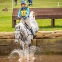 Izzy Taylor Eventing - Water jump